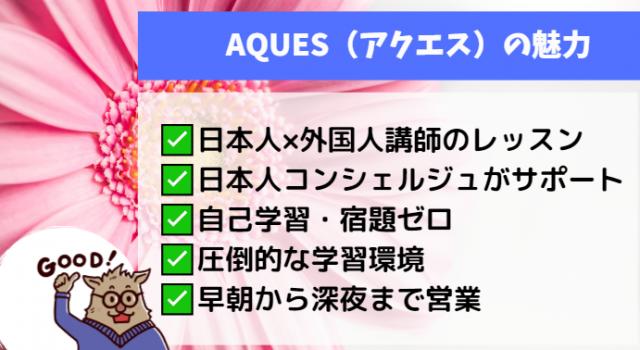 AQUES(アクエス)の魅力