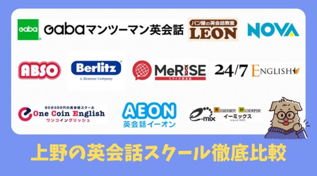 上野の英会話スクール比較